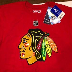 Adidas Chicago Blackhawks Crawford  T Shirt